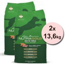 NUTRA GOLD Duck&Sweet Potato GRAIN FREE - 2 x 13,6 kg