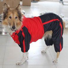 Hundeoveral - rotschwarz, L-XS