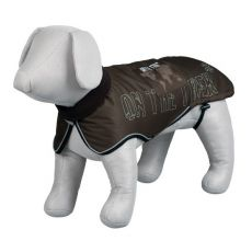 Hundemantel mit Reflexelementen, braun - L / 68-83 cm