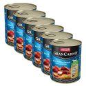 Dose GranCarno Fleisch Adult Räucheraal + Kartoffeln - 6x800g