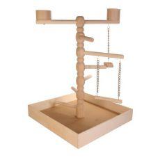 Spielzeug für Papageien - Holzspielplatz, 41x55x41cm