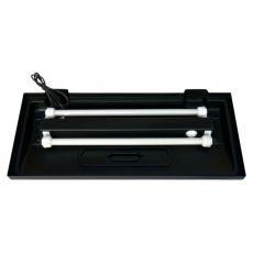 Beleuchtung für klassisches Aquarium 100x50cm - schwarz, flach