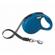 Flexi Leine New Classic XS bis 12 kg, 3 m Gurt-Leine - blau