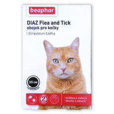 Halsband DIAZ für Katzen, Zecken- und Flohschutz - 35 cm