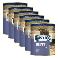 Happy Dog Pur - Büffel, 6 x 800 g, 5+1 GRATIS