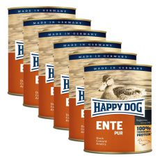 Happy Dog Pur - Ente, 6 x 800 g, 5+1 GRATIS