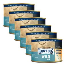 Happy Dog Pur - Wild, 6 x 200 g, 5+1 GRATIS