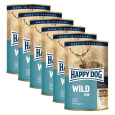 Happy Dog Pur - Wild, 6 x 400 g, 5+1 GRATIS