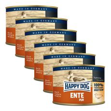 Happy Dog Pur - Ente, 6 x 200 g, 5+1 GRATIS