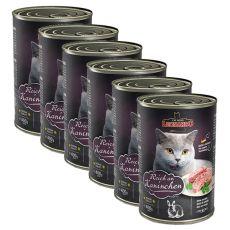 Dosenfutter für Katze Leonardo - Kaninchen 6 x 400g