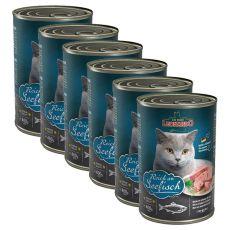 Dosenfutter für Katze Leonardo - Fisch 6 x 400g
