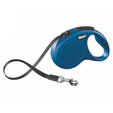 Flexi Leine New Classic M-L bis zu 50 kg, 5 m Gurt - blau