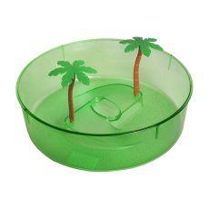 Kunststoffterrarium für Schildkröten - grüner Kreis 24,5 cm