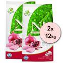 Farmina N&D dog GF ADULT Chicken & Pomegranate 2 x 12 kg