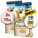 Happy Dog NaturCroq RIND UND REIS 2 x 15 kg + 6 kg GRATIS