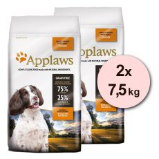 Applaws Dog Adult Small & Medium Breed Chicken 2 x 7,5kg