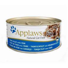 Applaws Cat - Dose für Katzen mit Thunfisch und Krabben, 70g