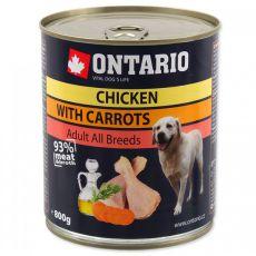 Dose ONTARIO für Hund mit Huhn, Karotte und Öl - 800g