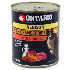 Dose ONTARIO für Hund mit Wildfleisch, Preiselbeeren und Öl a - 800g
