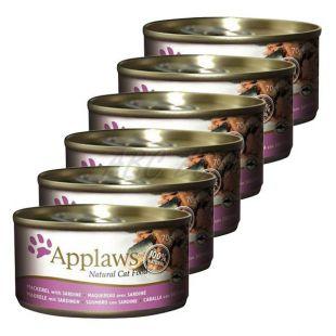 Applaws Cat - Dose für Katzen mit Makrele und Sardinen, 6 x 70g
