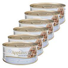 Applaws Cat - Dose für Katzen mit Thunfisch und Käse, 6 x 70g
