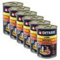Dose ONTARIO für Hund mit Lammfleisch, Reis und Öl - 6 x 400g