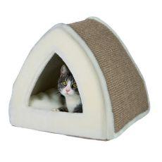 Kuschelhöhle für Katzen Jessa, beige - 40 x 40 x 38 cm