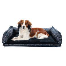 Auto-Bett für Hunde - grau, 80 x 60 cm