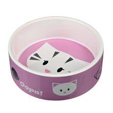 Keramiknapf für Katzen mit Motiv - 0,3 L