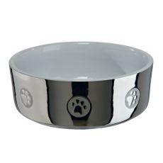 Keramiknapf für Hunde, silber - 0,8 L