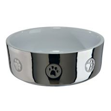 Keramiknapf für Hunde, silber - 0,3 L