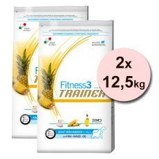 Trainer Fitness3 Adult MEDIUM & MAXI - Fisch und Mais 2 x 12,5 kg