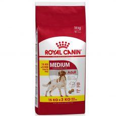 ROYAL CANIN MEDIUM ADULT 15 kg + 3 kg