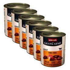 Dose GranCarno Fleisch Adult Rindfleisch + Putenfleisch - 6 x 800 g