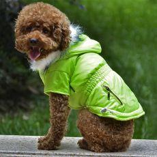 Hundejacke mit Taschen-Imitation mit Reißverschluss - neongrün, XS