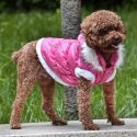 Hundejacke mit abnehmbarer Kapuze - pink S