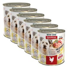 New BEWI DOG Nassfutter – Chicken - 6 x 800g, 5+1 GRATIS