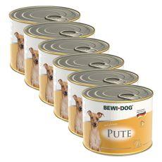 Bewi dog Pâté – Pute - 6 x 200g, 5+1 GRATIS