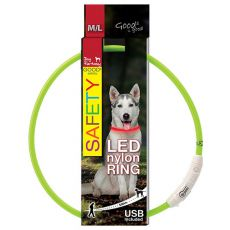Halsband Dog Fantasy LED nylon - grün, 65cm