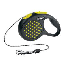 Flexi Design Seil-Leine XS bis 8kg, 3m - gelbe Punkte