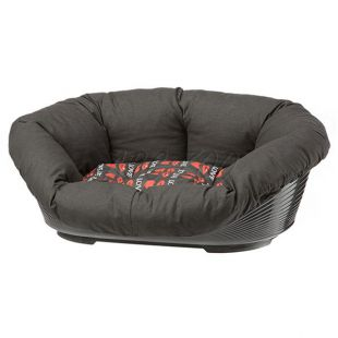 Kunststoffbett für Hunde und Katzen SOFA 4 mit Bezug  - 64 x 48 x 25 cm