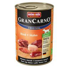 Nassfutter GranCarno Original Adult Rind + Huhn - 400g