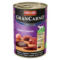 Nassfutter GranCarno Original Adult Rind + Lamm - 400g