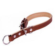 Trainingshalsband aus Leder - 50 - 55cm, 20mm - braun