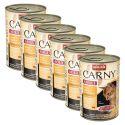 Feuchtfutter CARNY ADULT Rind, Huhn + Entenherzen - 6 x 400g