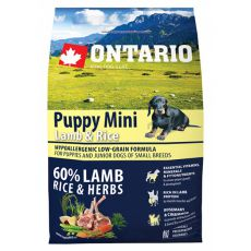 ONTARIO Puppy Mini Lamb & Rice 2,25kg