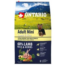 ONTARIO Adult Mini Lamb & Rice 6,5kg