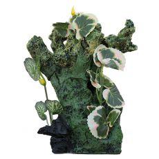 Aquarium Dekoration  2157 - grüner Felser mit Pflanzen
