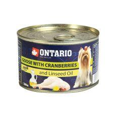 Feuchtnahrung ONTARIO Gans mit Preiselbeeren und Leinsamenöl 200g