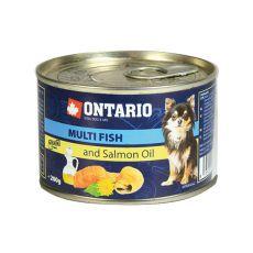 Feuchtnahrung ONTARIO Multi Fish und Lachsöl – 200g